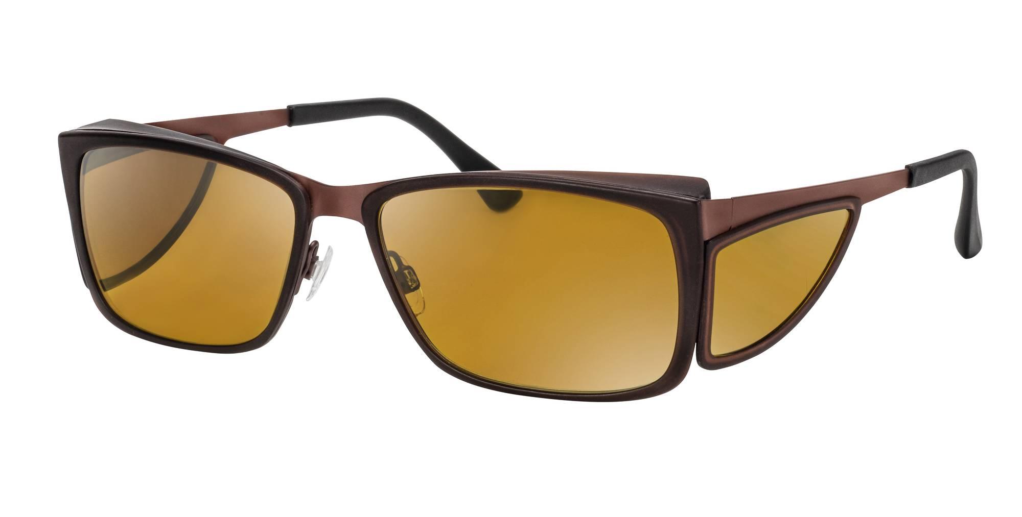 Brille für Makuladegeneration mit starkem Blendschutz
