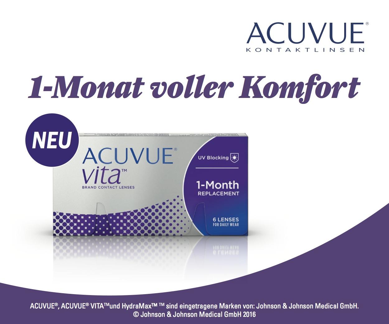 Das Bild zeigt die Verpackung der Acuvue Vita