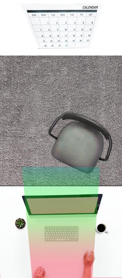 Das Bild zeigt die Sichtfelder durch eine Bildschirmbrille, die für den PC optimiert ist.