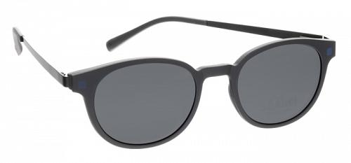 schwarze Brille mit Magnetclip