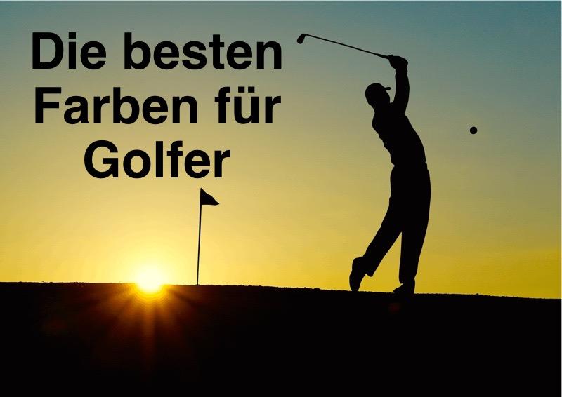 Das Bild zeigt den Text die besten Farben für Golfer und beschreibt damit Golfbrille mit Sehstärke