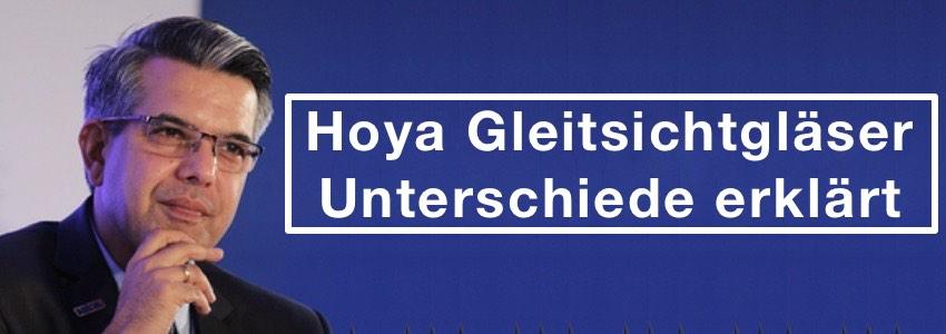Das Bild zeigt einen Mann mit Brille und den Satz Hoya Gletisichtbrille unterschiede erklärt