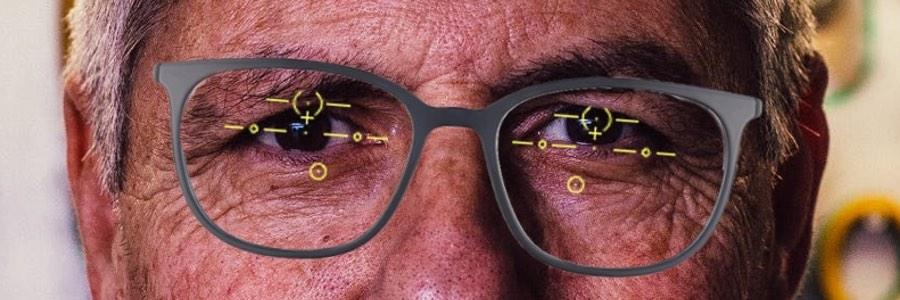Das Bild zeigt eine gleitsichtbrille die nicht richtig eingestellt ist