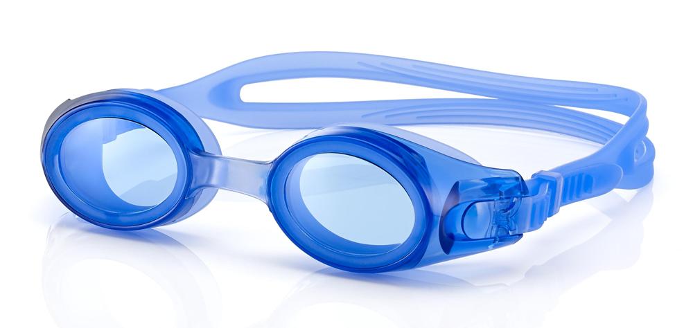 Schwimmbrille mit abdichtender Funktion in blau