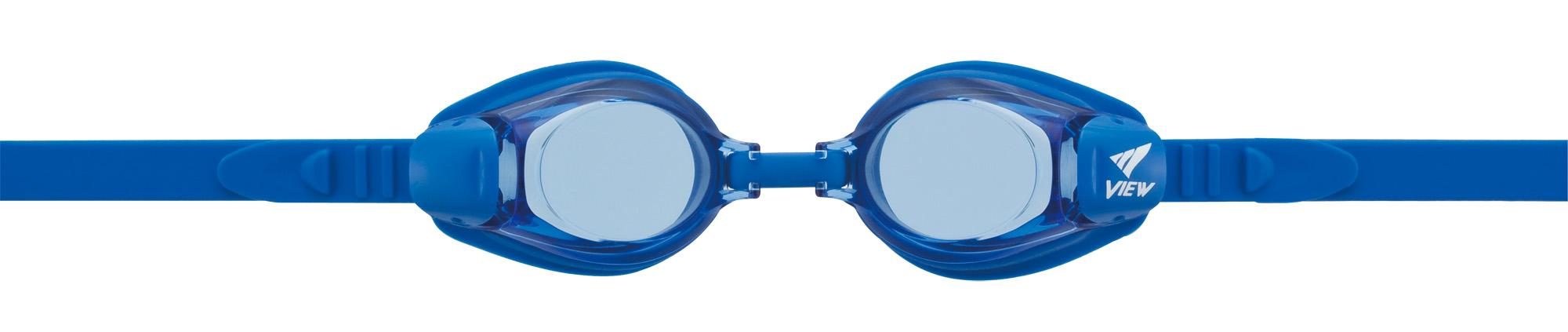 blaue Schwimmbrille, die auch mit Ihren Sehstärken versehen werden könnte