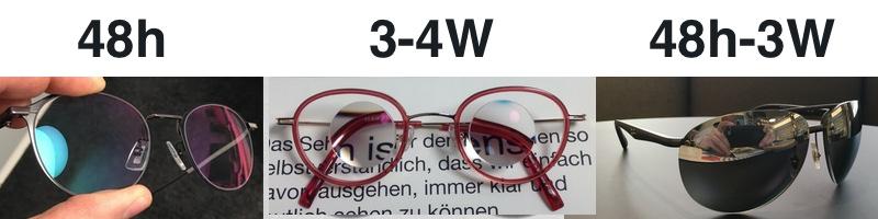 Das Bild zeigt wie schnell bestimmte Brillen gefertigt werden können.