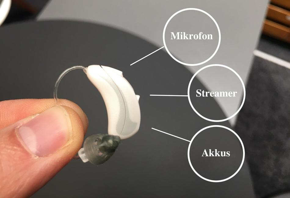 Das Bild zeigt ein Hörgeräte und Zubehör als Schriftzug